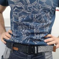 奧地利 Austrialpin 11n1 阿爾卑斯山 純棉 T-shirt 灰藍色
