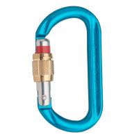 奧地利 AUSTRIALPIN OVALO GI Screwlock 鋁合金手動O型鉤環(黃銅套筒螺牙及紅色警示線) 藍色