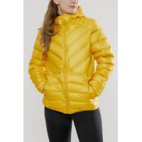 CRAFT輕量羽絨連帽外套(女)橘黃色(特價3600)