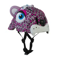 丹麥Crazy Safety 豹紋安全帽(桃紅)