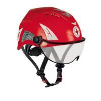 【義大利 KASK】HP CRI 紅十字安全頭盔含護目鏡 紅色款(預購)