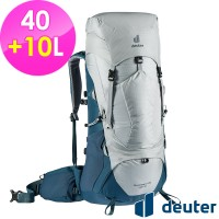 deuter 德國 AIRCONTACT LITE 拔熱式透氣背包/登山背包/40+10L(3340321 銀白/深藍)