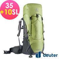 deuter 德國 AIRCONTACT LITE 拔熱式透氣背包/登山背包/女性窄肩款35+10SL(3340221開心果綠/深灰 )