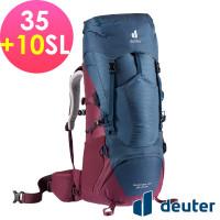 deuter 德國 AIRCONTACT LITE 拔熱式透氣背包/登山背包/女性窄肩款35+10SL(3340221深藍/黑莓 )