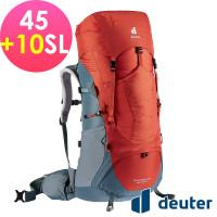 deuter 德國 AIRCONTACT LITE 拔熱式透氣背包/登山背包/女性窄肩款45+10SL(3340421辣椒紅/淺藍)
