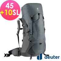 deuter 德國 AIRCONTACT LITE 拔熱式透氣背包/登山背包/女性窄肩款45+10SL(3340421深灰/黑)