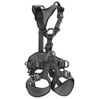 法國 Petzl ASTRO® BOD FAST international version 工程用全身型安全座帶/吊帶 附胸式上升器 C083BA (全黑款)
