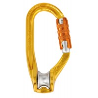 法國 Petzl ROLLCLIP TRIACT-LOCK 滑輪鎖扣/滑輪勾環 Pulley carabiner 三段鎖版 P74-TL